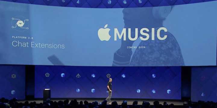 Facebook's annual F8 developer conference announces integration with apple Music