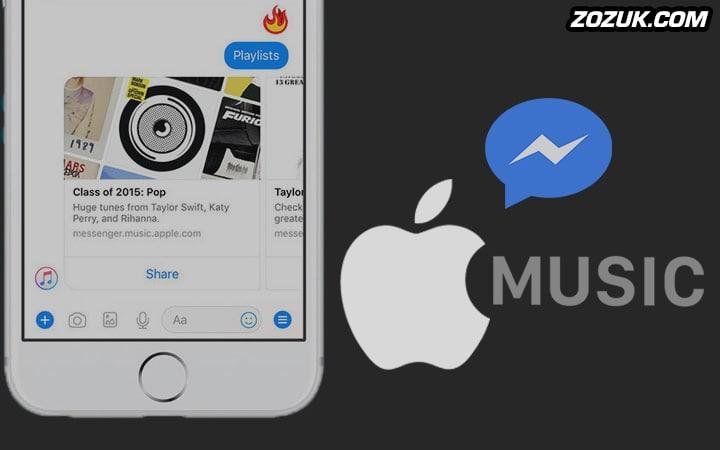 apple music and facebook messenger integration