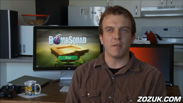 Bombsquad running on iMac and Eric Froemling talking about the game